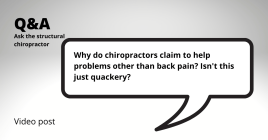 Why do chiropractors claim to help...