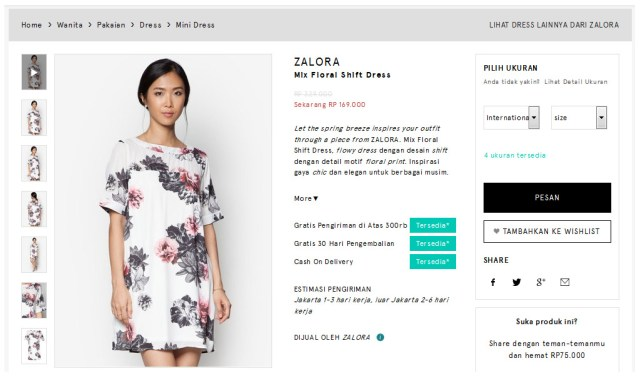 zalora-shift-dress-floral