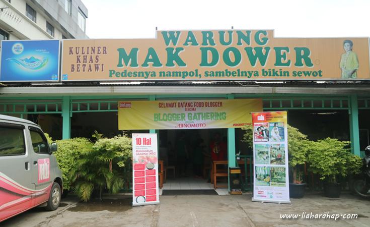 Wisata Kuliner Betawi Warung Mak Dower
