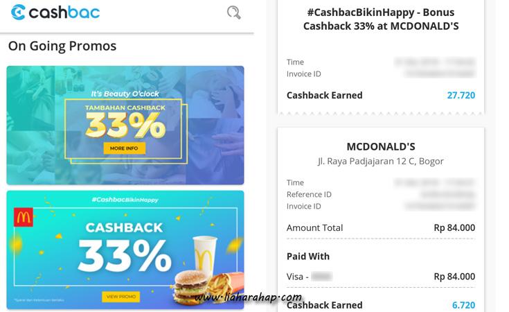 Aplikasi Promo dan Diskon Cashbac