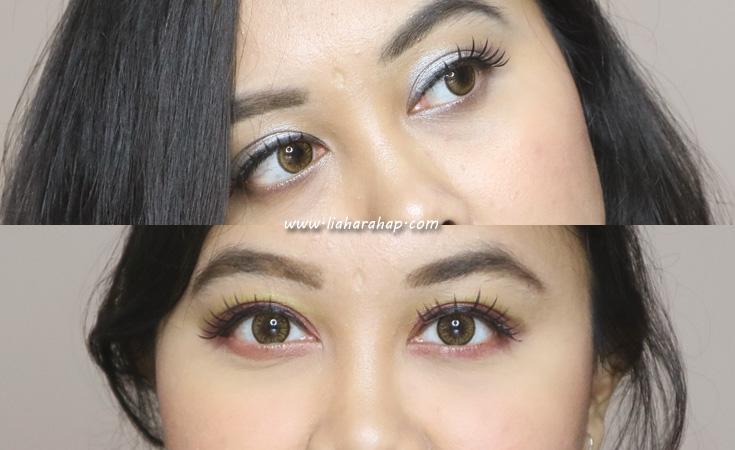 hasil pemakaian bulu mata palsu di mata
