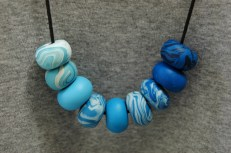 blue polymer clay beads