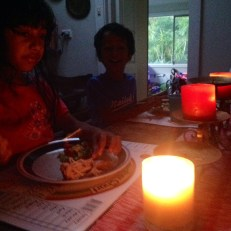 Candlelit dinner for Earth Hour