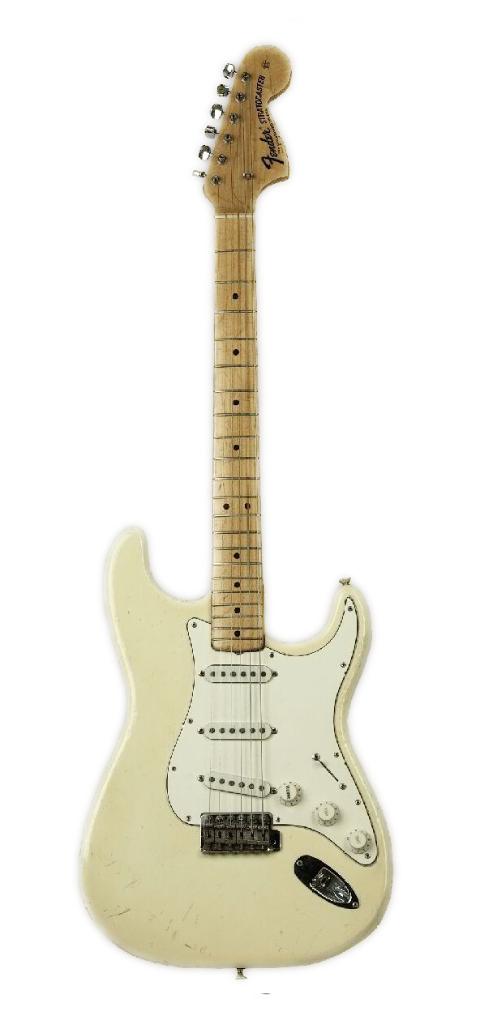 1968 Jimi Hendrix Woodstock Fender Stratocaster (serial number 24098) Olympic White