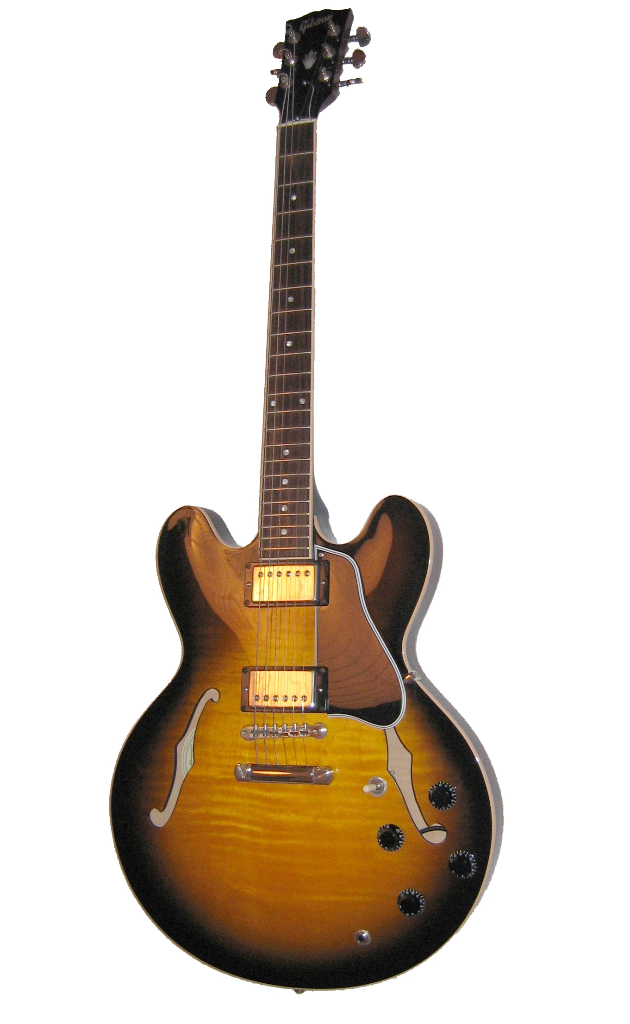 """""""Gibson ES-335 sunburst"""" by Federico.Gallerani - Own work. Licensed under CC BY-SA 3.0 via Commons - https://commons.wikimedia.org/wiki/File:Gibson_ES-335_sunburst.jpg#/media/File:Gibson_ES-335_sunburst.jpg"""