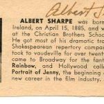 Albert Sharpe