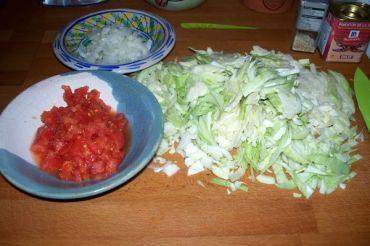 cortamos en juliana las verduras