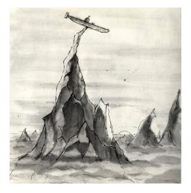 Pencil Draft of Mountain
