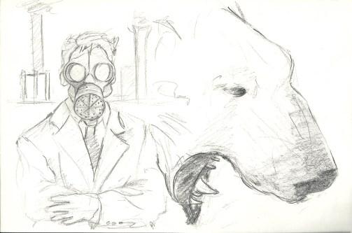 gas man and bear
