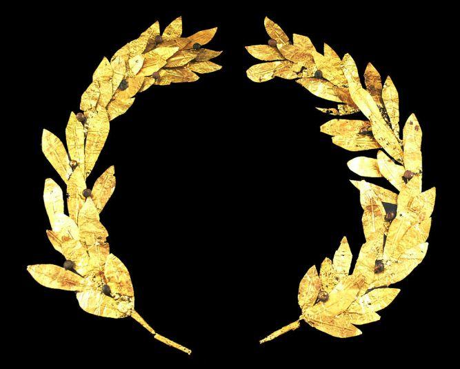 This a Golden laurel wreath of JoJo