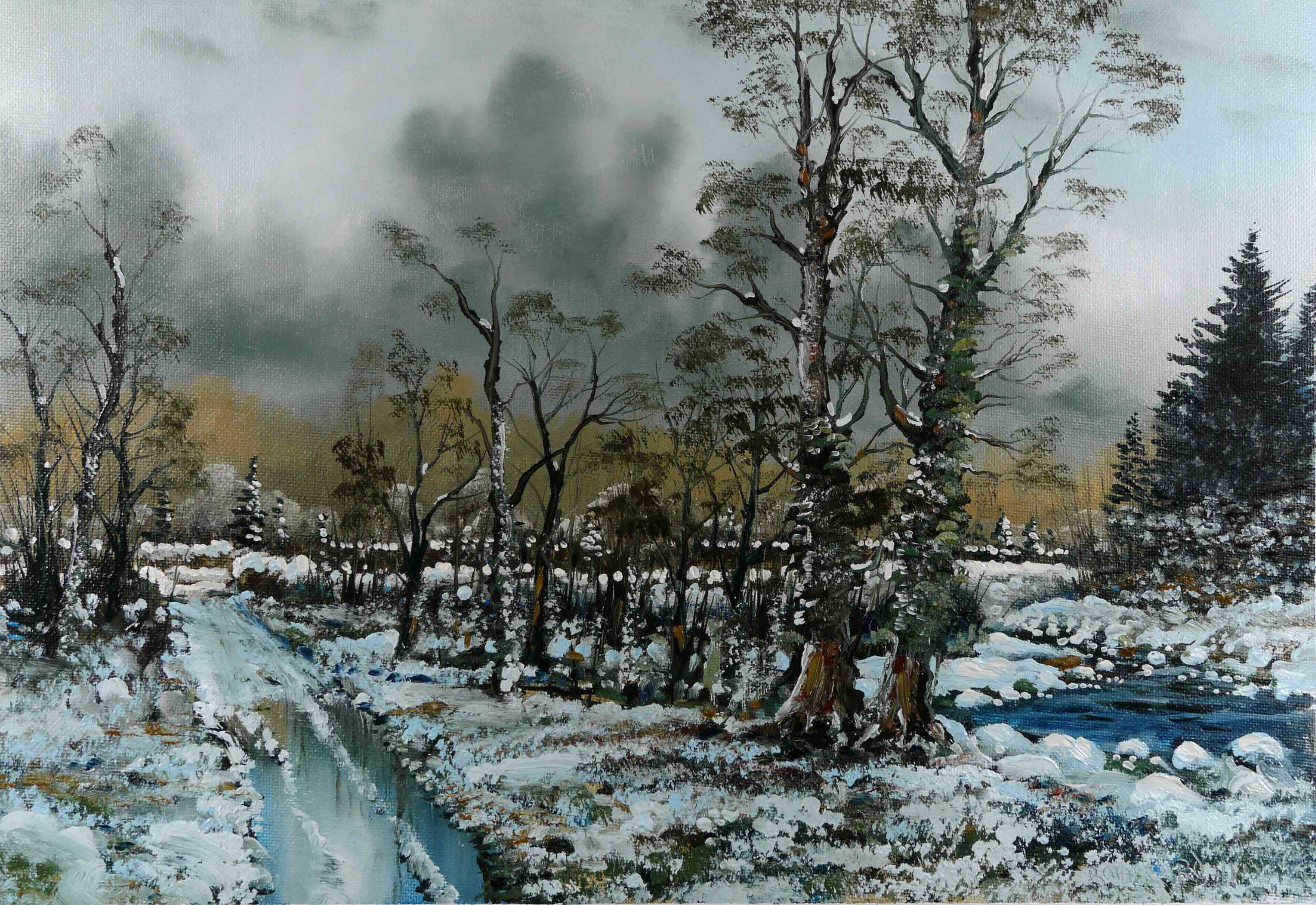 Winter Woodland Oil Painting PictureS