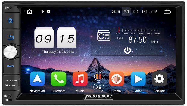 Pumpkin Android 8.0 Android Auto Head Unit Review