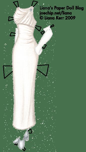 Doris Days White Evening Gown from Pillow Talk  Lianas