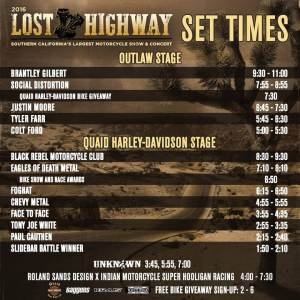 Lost Highway set times