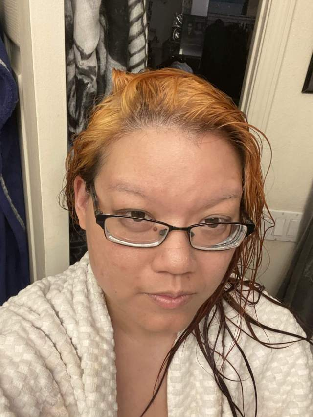 My first attempt at bleaching my hair with boxed bleach from Kiss