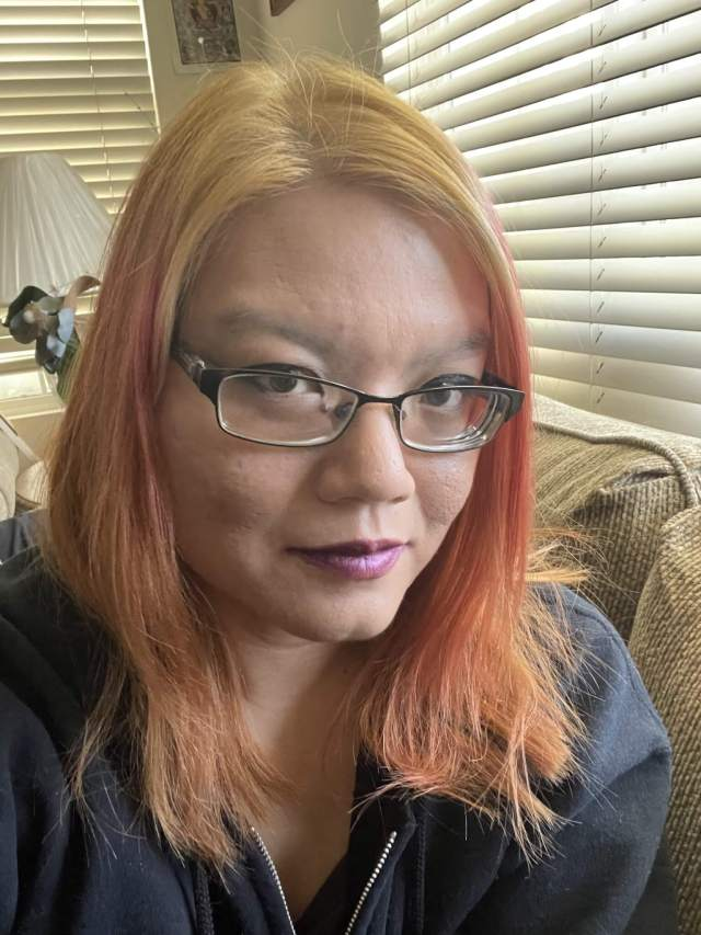 my current yellow, pink, and orange hair - I'm oddly pleased with it