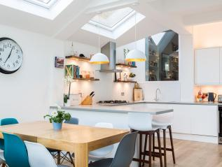 Featured in Houzz – Interior shots of kitchen extension in South West London