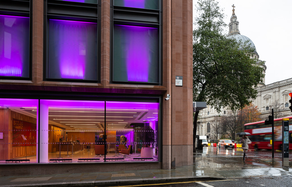 Architectural photography of Fidelity Building In Canon Street, London