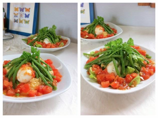 溫泉蛋四季豆沙拉-1