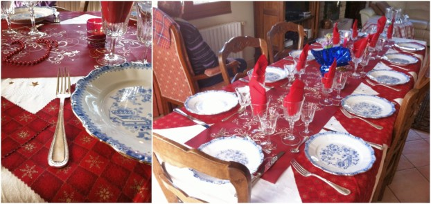 法國2014年聖誕節我家餐桌紀錄La table de Noel chez moi 2014餐桌