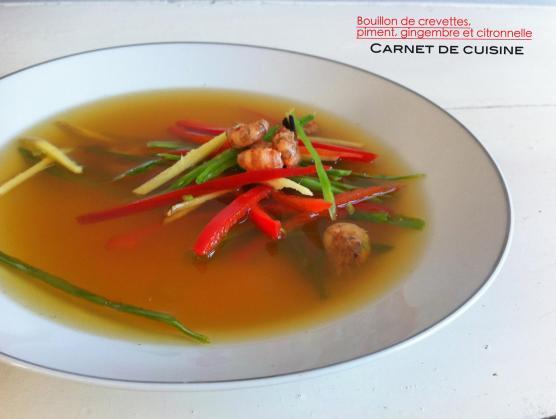 鮮蝦甜椒湯佐薑絲與香茅Bouillon de crevettes,piment,gingembre et citronnelle-2