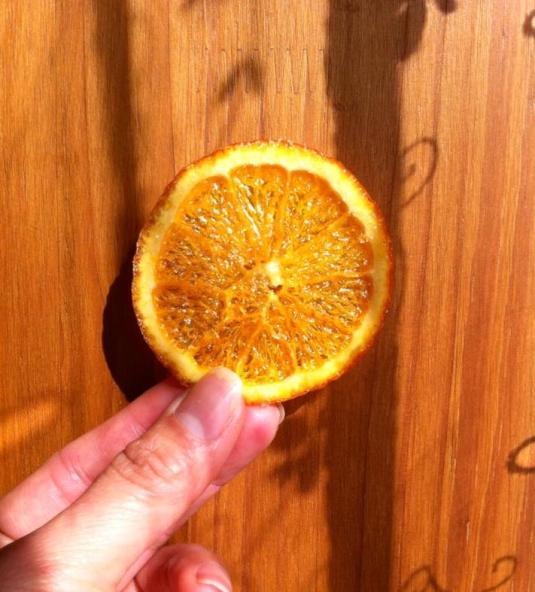 糖漬甜橙薄片