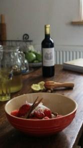 紅酒草莓Fraises au vin rouge