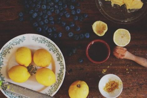 檸檬藍莓玉米粉蛋糕