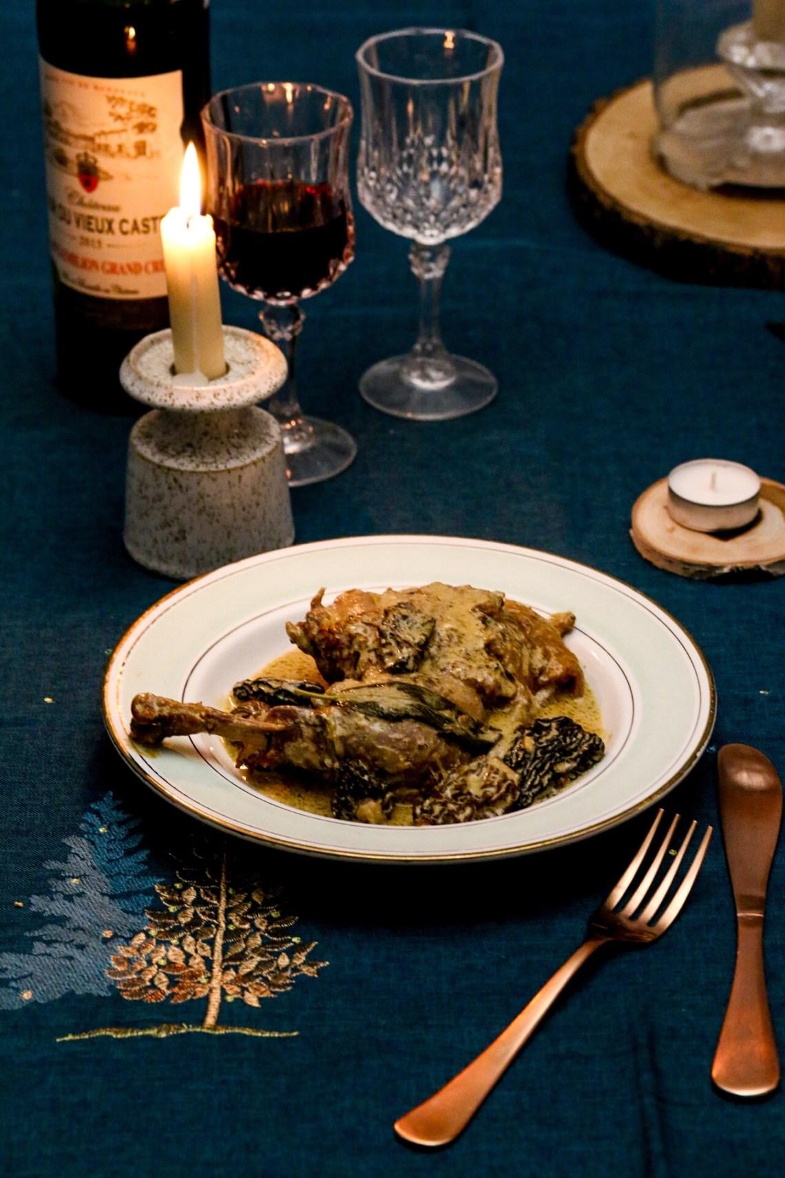 黃酒與牛肚菌菇雞