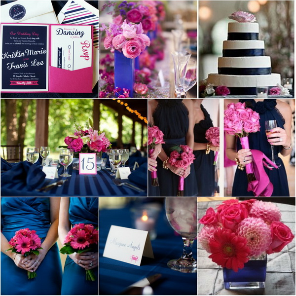 TRENDING NAVY BLUE WEDDING IDEAS FOR FALL 2014  lianggeyuan123