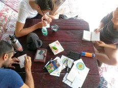 Making art with new friends from England