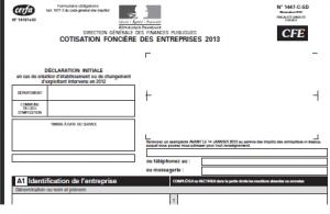 cfe 2013 300x195 LIASSE FISCALE : CREATION OU REPRISE CFE 2013 [pdf] DISPONIBLE