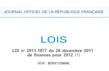 loi de finance 2012 300x195 Liasse fiscale 2012: La loi de finances pour 2012 publiée au journal officiel