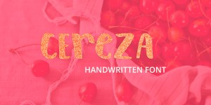 Cereza handwritten font, handmade typeface in the modern calligraphy (handlettering) style