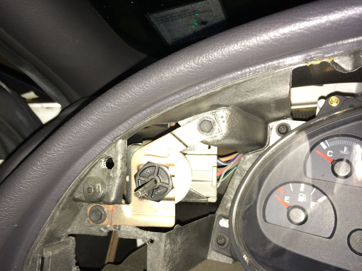 hight resolution of next use a 9 32 socket to remove the two bolts inside the dash