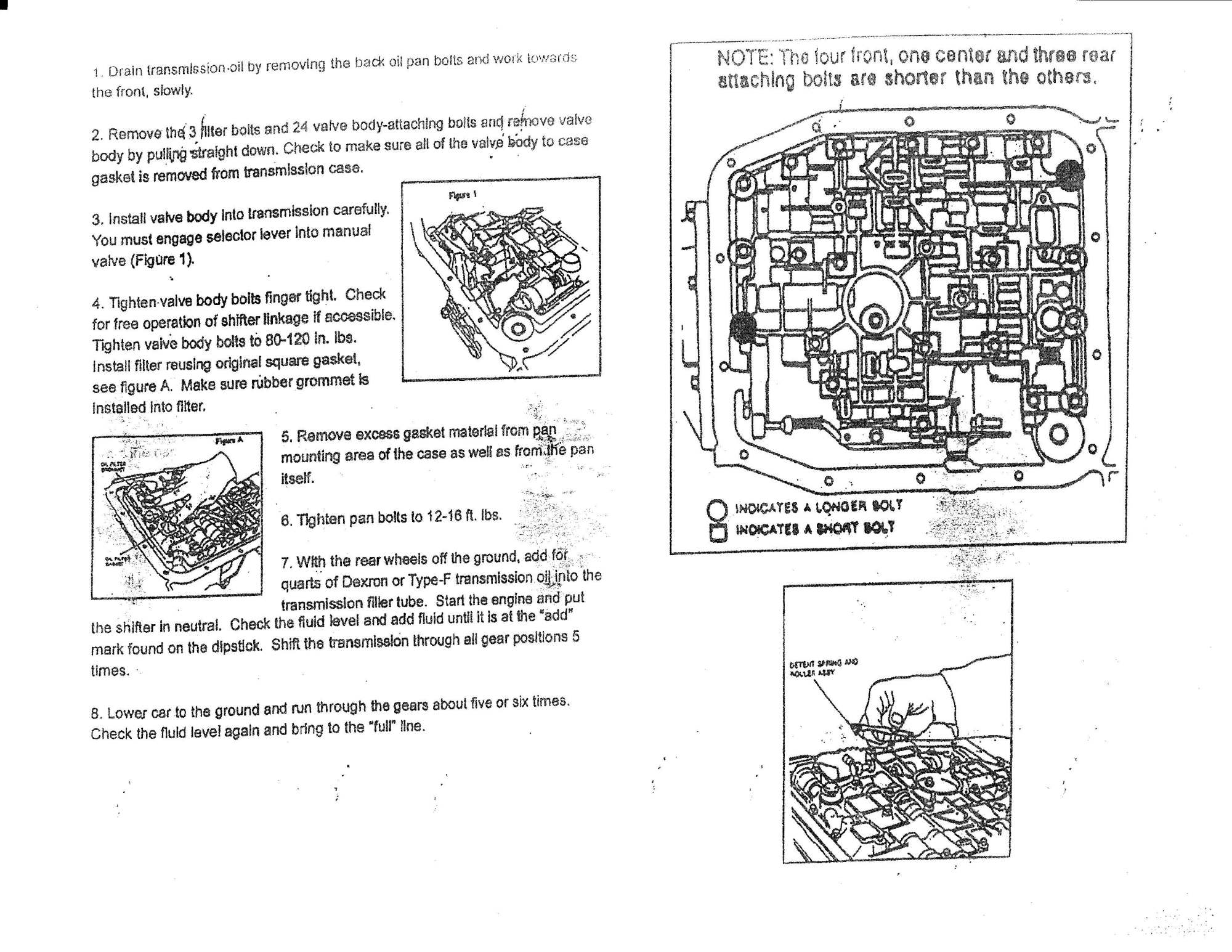 hight resolution of how to install a performance automatic hold valve body on your 1983 aod valve body diagram