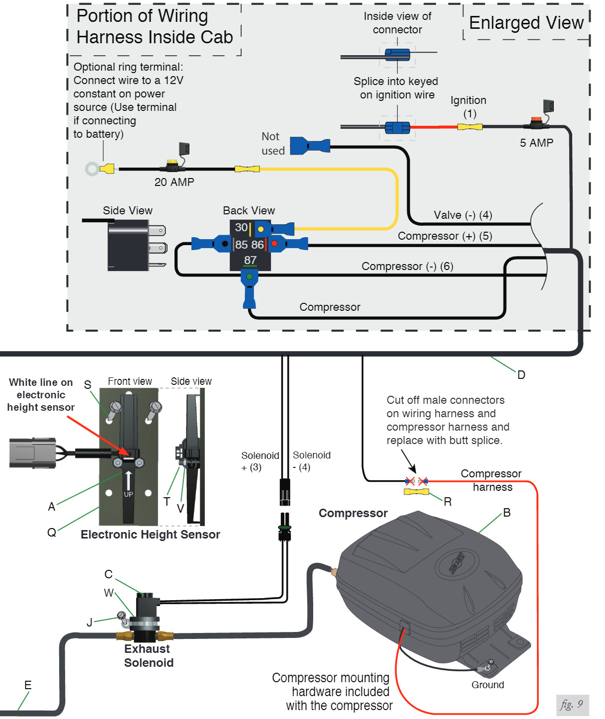 hight resolution of air bag compressor wiring diagram 33 wiring diagram 3 terminal battery isolator solenoid 3 pole solenoid
