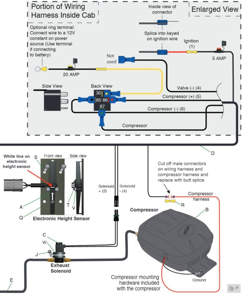 small resolution of air bag compressor wiring diagram 33 wiring diagram 3 terminal battery isolator solenoid 3 pole solenoid