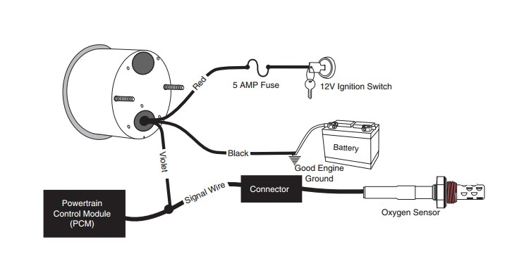 Automotive Fuel Gauge Wiring Diagram: Autometer temp gauge