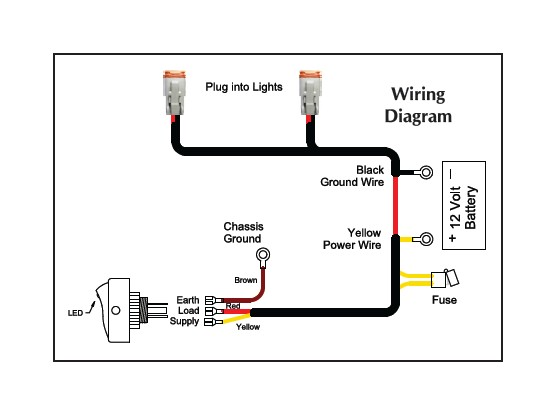 driving light wiring harness diagram