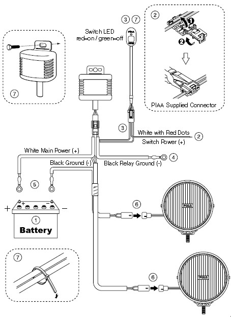 relay wiring diagram for driving lights
