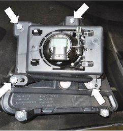 if equipped remove the four 4 screws and the fog lamp assembly  [ 1001 x 876 Pixel ]
