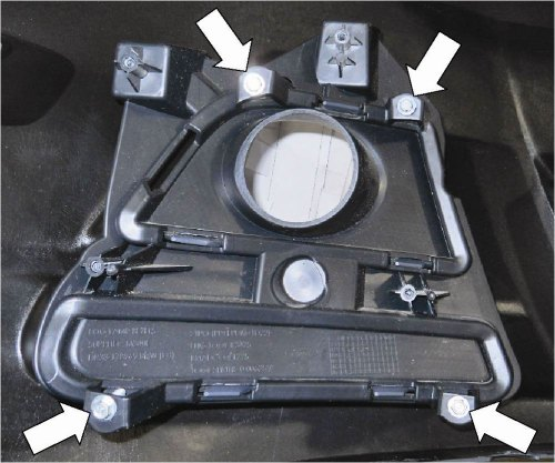 small resolution of remove the four 4 screws and the fog lamp mounting bracket