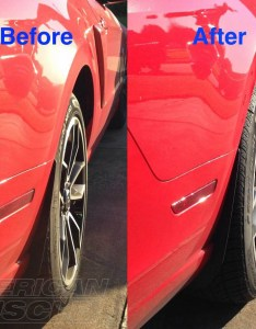 Before  after in mustang wheel spacers also wheels buyer  guide to sizing looks performance rh americanmuscle