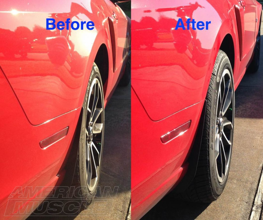 medium resolution of before after 1in mustang wheel spacers