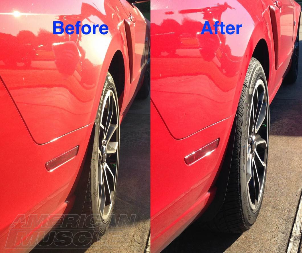 hight resolution of before after 1in mustang wheel spacers
