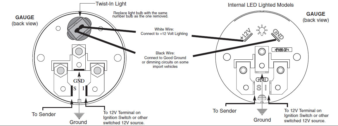 dolphin shark gauges wiring diagram labelled of a circle how to install an auto meter pro-comp ultra-lite water temp gauge - electric on your 1979-2012 ...