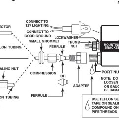 Auto Meter Fuel Gauge Wiring Diagram For Home Network How To Install An Pro-comp Ultra-lite Oil Pressure - Mechanical On Your 1979 ...