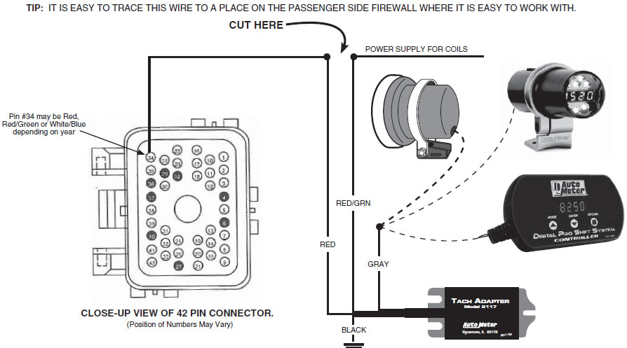 1999 ford mustang gt wiring diagram micro servo how to install an auto meter tach adapter on your typical 99 04