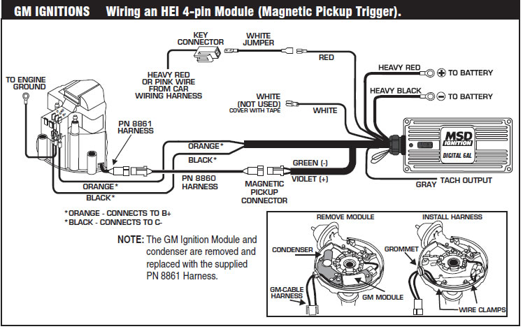 msd 6al wiring diagram 6420 sears dryer how to install an 6a digital ignition module on your 1979-1995 mustang | americanmuscle